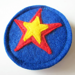 Superhero Felt Star Badge Brooch