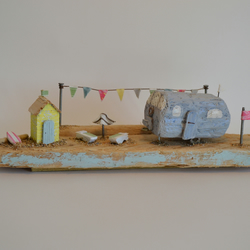 Retro 'Airstream Holiday' Driftwood Caravan, By Hello Sunshine Designs