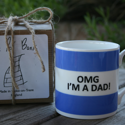 OMG I'm A Dad Hoop Mug Gift Boxed (choice of ten colours)