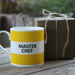 Master Chef Hoop Mug Gift Boxed (choice of ten colours)