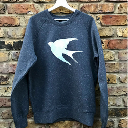 Swallow Sweatshirt - hand printed, comfy sweatshirt