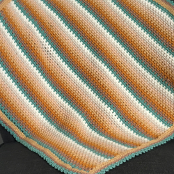 Retro Style Striped Crochet Blanket