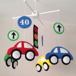Baby mobile - Bright cars - Boys baby mobile