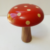 Sycamore Wood Air Brushed Flame Red with Natural Dots 1012