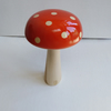 Sycamore Wood Air Brushed Flame Red Mushroom with Natural Sycamore  Dots 1014