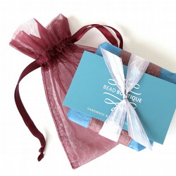 Burgundy - teal gift wrap to go with your bracelet purchase