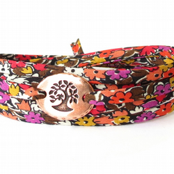 Liberty fabric bracelet in warming autumn colours, confirmation gift for girls