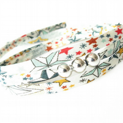 Cute bracelet gift for teen girls, fabric with stars, small gift idea