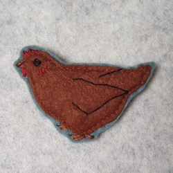 little chicken brooch