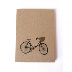 bicycle 100& recycled pocket notebook