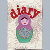 Appliqued Russian doll diary 2012 (fabric cover)