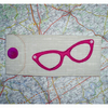 Glasses case - pink applique