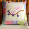 Cushion - Birds and patchwork