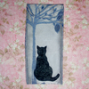 Glasses case - Cat under tree