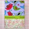 Notebook bright fun birds