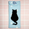 Glasses case - Black cat on blue