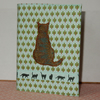 Notebook with applique cat A6