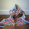 Vintage inspired floral union jack bunting.