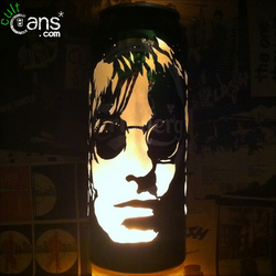 Liam Gallagher Beer Can Lantern! Oasis, Beady Eye, Pop Art Portrait Candle Lamp
