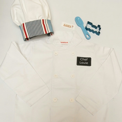 Boy's Chef Jacket and Chef Hat - Toddler or Junior Size.