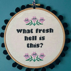 what hell cross stitch hoop