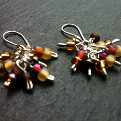 Beady Cluster Earrings
