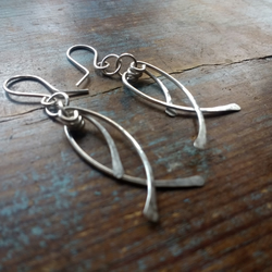 Layered Lash Sterling Silver Earrings