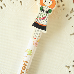 Yellow Pierori Girl Pen cartoon ballpen