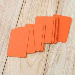 Mango Orange blank business cards