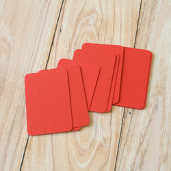 Scarlet Red blank business cards