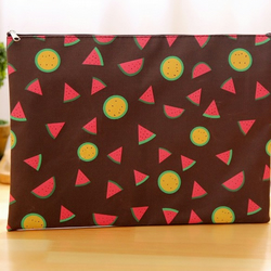 Brown Summer Fruits File Bag
