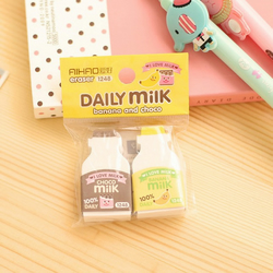 Banana & Choco Daily Milk cartoon erasers