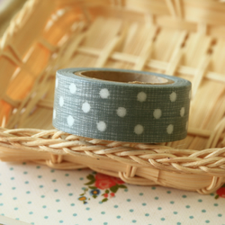 Grey Dots East of India masking paper tape