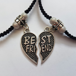 Best friend anklets - white beads