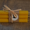 Beeswax Candles set of 6 hand rolled tapered candles approx 13cm high