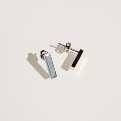 Minimal Bar Earring Studs - Sterling Silver
