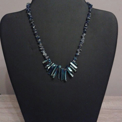 Stunning Lapis and Quartz Necklace