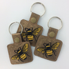 Bee Keyring - Bee Gift - Bees - Embroidered Keyring