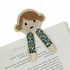 Dolly Bookmark - Textile Bookmark - Embroidered Bookmark - Book Gift