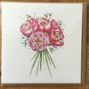 Peony bouquet greeting card