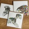 Mixed pack of  6 wildlife Endangered Species Art Cards