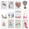 Pretty in pink mixed pack of 12 Greeting cards