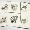 Multi pack of mixed breed Dog Greeting cards