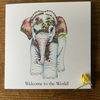 Welcome to the World Baby Elephant Greeting card
