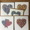 5 x love Greeting cards