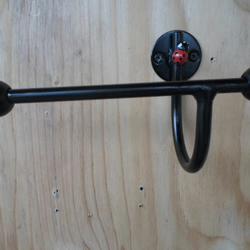 ladybird toilet roll holder............Wrought Iron (Forged Steel) Hand Made
