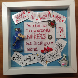 Alice in Wonderland Themed Picture - Alice & Mad Hatter Quote