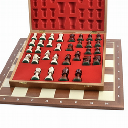 wooden chess board chessboard full set 1