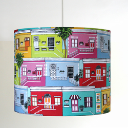 Cape Town Happy Houses Handmade Lampshade - pendant or stand type