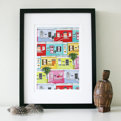 Colourful Happy Houses High Quality Print